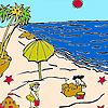 Sandcastles On The Beach Coloring