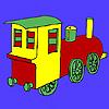 Half Country Train Coloring
