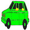 Old Green Car Coloring